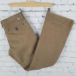 LEVI'S | khaki distressed boot twill trouser pant